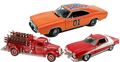 USA model cars and model airplanes