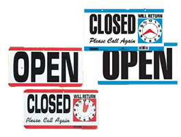 Open - Closed Door Signs