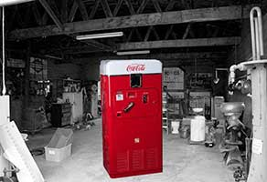Vintage old Coca Cola Machine Vendorlator VMC 33