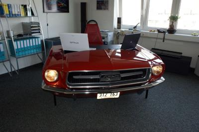Route 66 Store 1967 Mustang Car Desk Furniture Made From