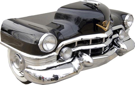 route 66 store 1955 cadillac auto schreibtisch m bel gefertigt aus einem original fahrzeug. Black Bedroom Furniture Sets. Home Design Ideas