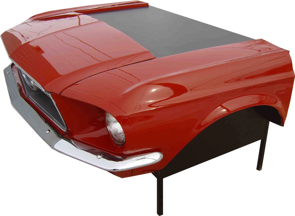 route 66 store 1967 mustang car desk furniture made from original cars. Black Bedroom Furniture Sets. Home Design Ideas