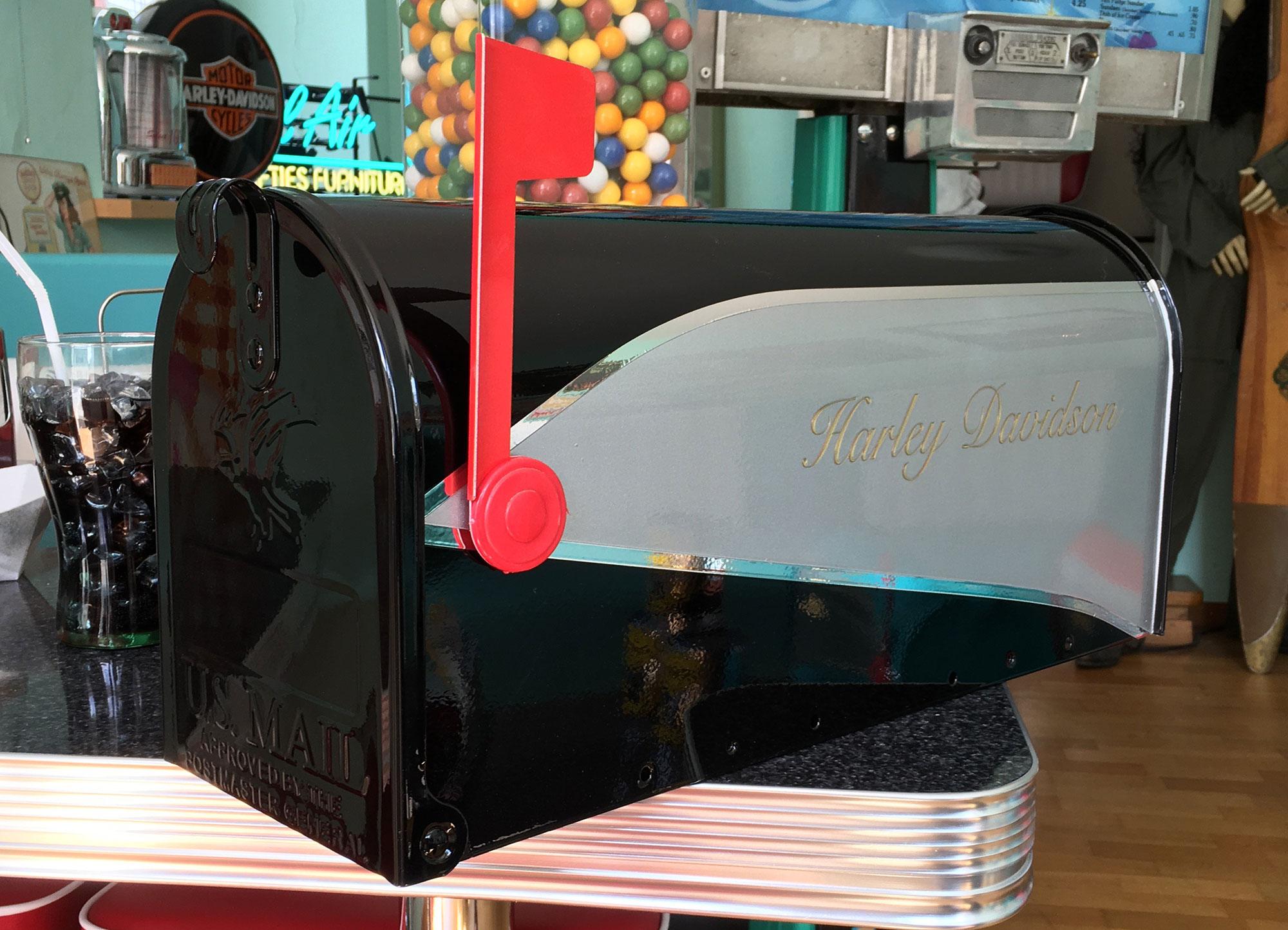 route 66 store us mailbox harley davidson standard gr sse. Black Bedroom Furniture Sets. Home Design Ideas