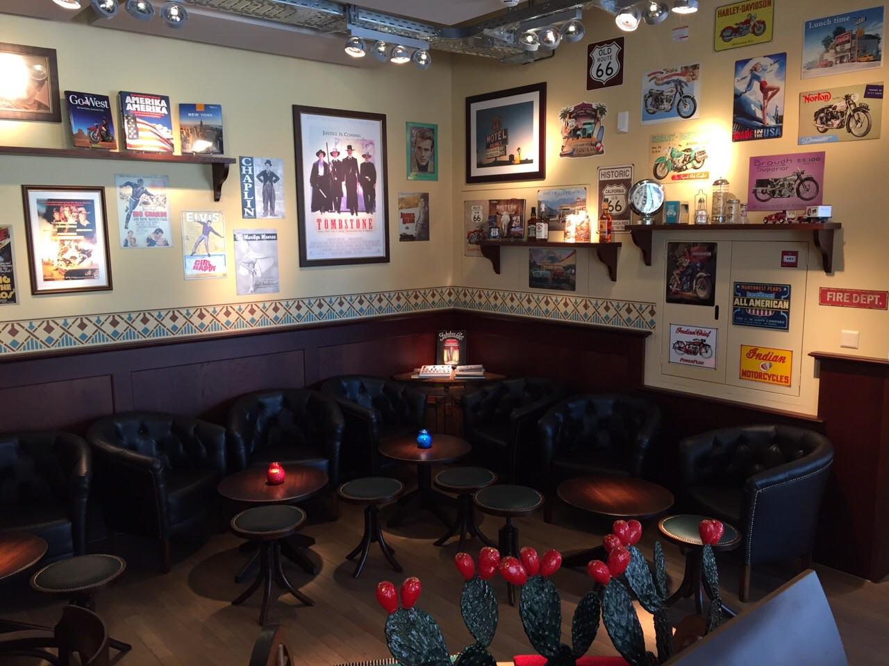 Route 66 Store Restaurant Bar Stars Stripes Glattpark Zurich