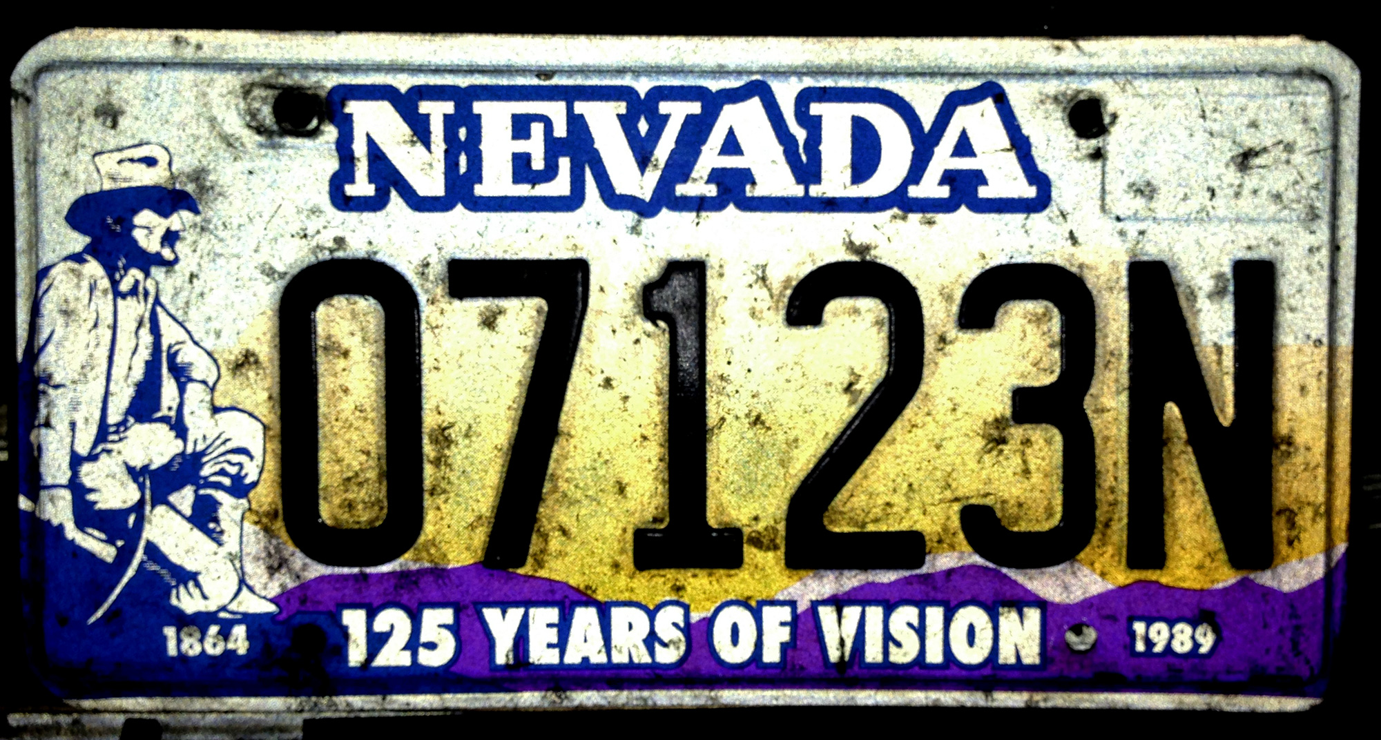 Route 66 Store - - Nevada 125 Years of Vision License Plate