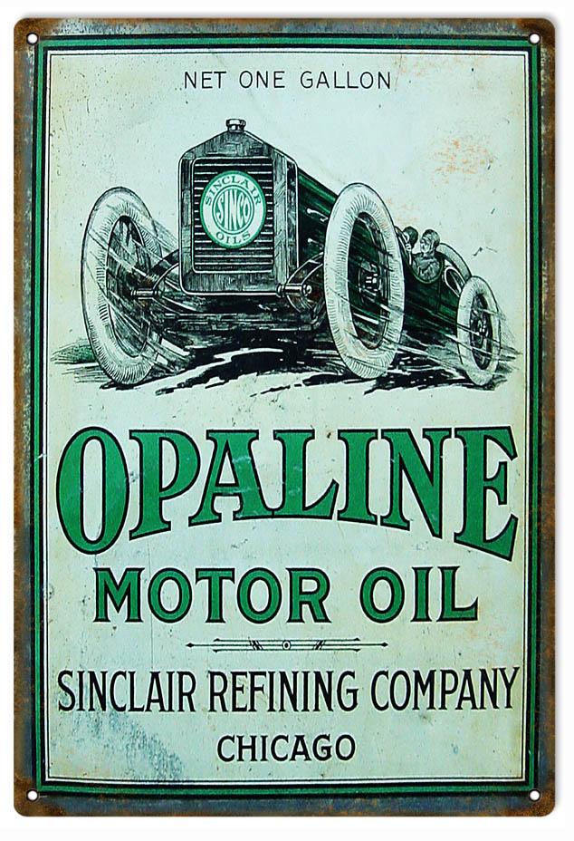 Route 66 Store Sinclair Opaline Race Car Gasoline Tin