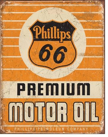 Route 66 Store Phillips 66 Motor Oil Retro Blechschild