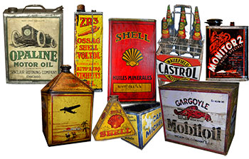 Petroliana, oil tins, oil can,
