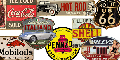 Tin Metal Signs