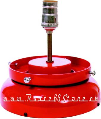 Light Base for Gasoline Glass Globe, LSR Red
