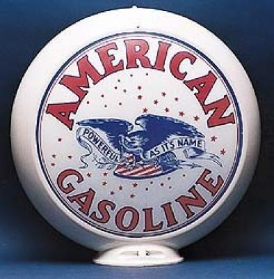 American Gasoline Glass Globe 34cm in Diameter