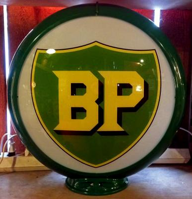 BP, British Petroleum Gasoline Glass Globe 02, 34cm in Diameter