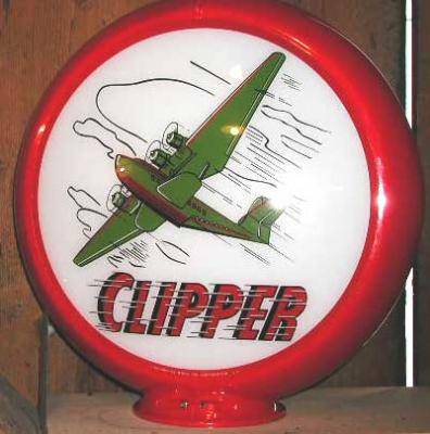 Clipper Gasoline Glass Globe 34cm in Diameter