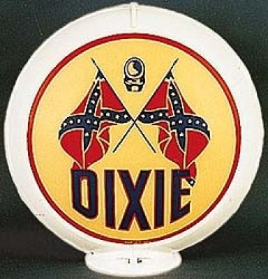 Dixie Gasoline Glass Globe