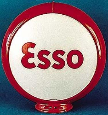 Esso Normal Gasoline Glass Globe