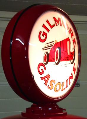 Gilmore Red Race Car Gasoline Glass Globe 34cm in Diameter