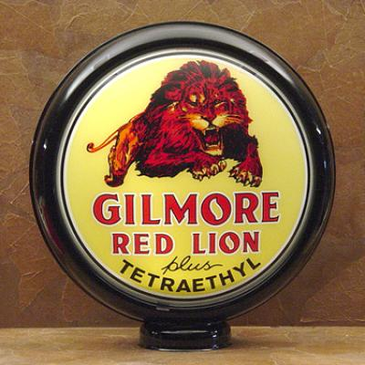 Gilmore Red Lion Gasoline Glass Globe