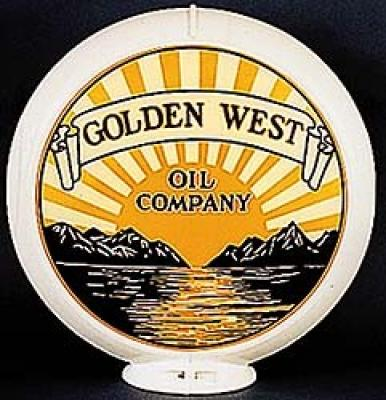 Golden West Gasoline Glass Globe