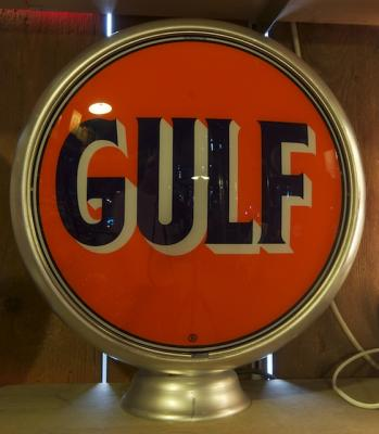 GULF Gasoline Glass Globe