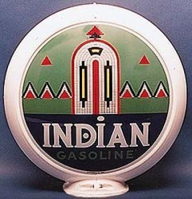 Indian Green Gasoline Glass Globe
