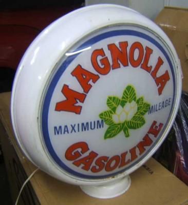 Magnolia Gasoline Glass Globe