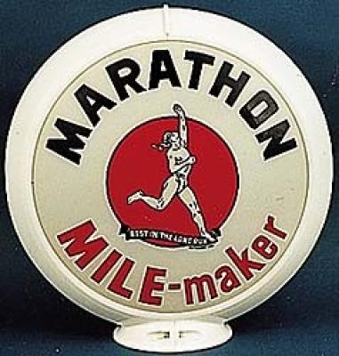 Marathon Gasoline Glass Globe