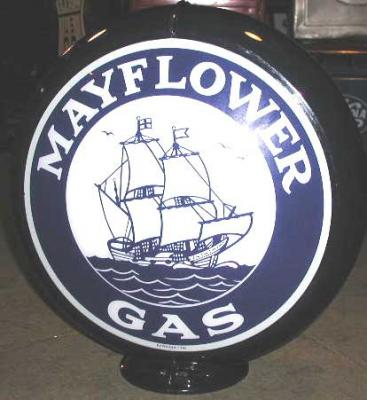 Mayflower Gasoline Glass Globe