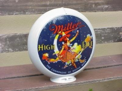Miller High Life Glass Globe