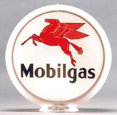Mobilgas Gasoline Glass Globe