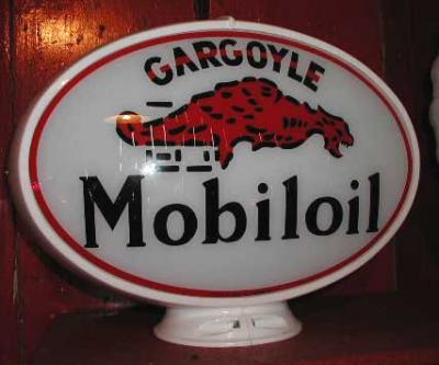 Mobiloil Oval Glass Globe