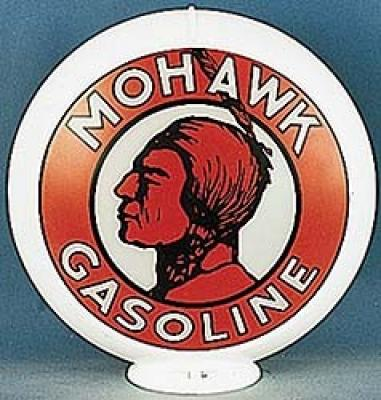Mohawk Gasoline Glass Globe 34cm in Diameter