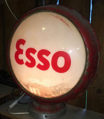 Original Esso Gasoline Glass Globe