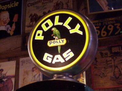 Polly Gas Gasoline Glass Globe