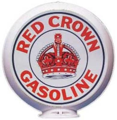 Red Crown Gasoline Glass Globe