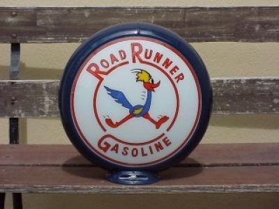 Roadrunner Gasoline Glass Globe 34cm in Diameter