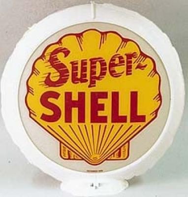 Super Shell Gasoline Glass Globe ST02