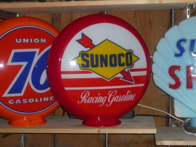 Sunoco Gasoline Glass Globe