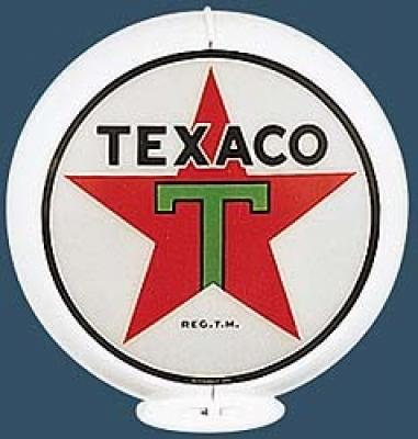 Texaco Star Gasoline Glass Globe