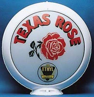 Texas Rose Gasoline Glass Globe 34cm in Diameter